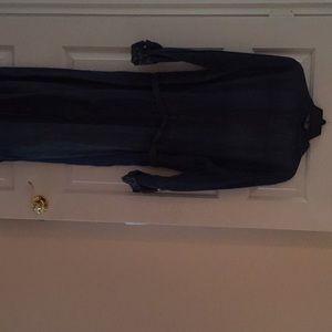 Chico's Dresses - Chicos denim dress with leopard trim